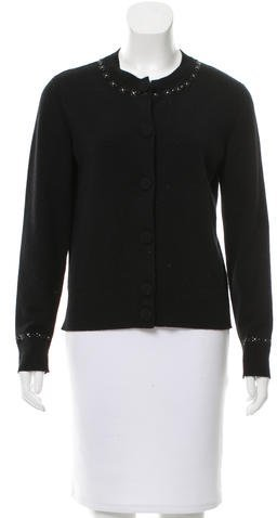Marc Jacobs Marc Jacobs Embellished Long Sleeve Cardigan