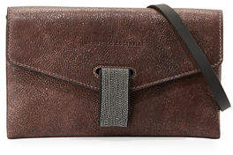 Brunello Cucinelli Mini City Leather Crossbody Bag