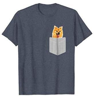 Pomeranian Dog In Pocket - Funny Pom Puppy Gift T-Shirt
