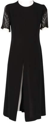 Dries Van Noten Black Wool Dresses