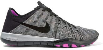 Nike - Free Tr 6 Metallic Mesh And Neoprene Sneakers - Gray $110 thestylecure.com