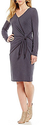 ZOZO Cupro Knit Tie Dress $148 thestylecure.com