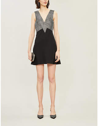 Christopher Kane Crystal-embellished crepe mini dress