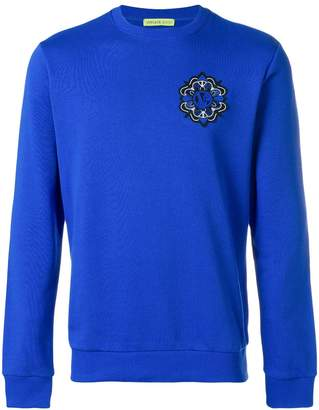 Versace patch detail sweatshirt
