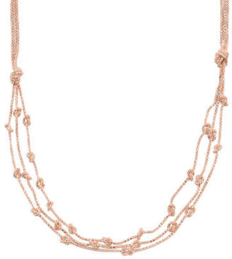 Made In Italy Plated Sterling Silver Knotted Chain Necklace