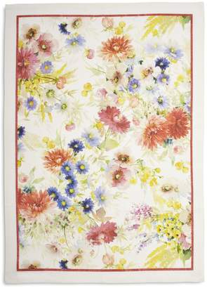 "Sur La Table Floral Georgette Linen Kitchen Towel, 28"" x 20"""