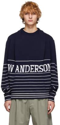 J.W.Anderson Navy Knit Logo Sweater