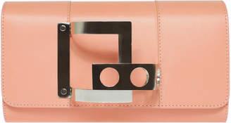 Perrin Paris Le Tambour Leather Clutch