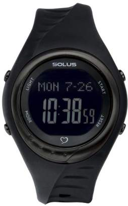 Solus Unisex Digital Watch with LCD Dial Digital Display and Black Plastic or PU Strap SL-300-007