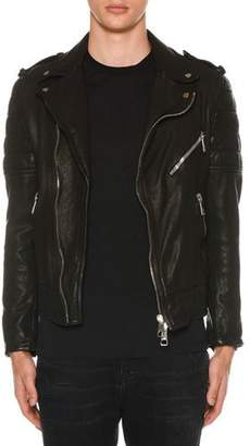 Neil Barrett Men's Buffalo Leather Biker Jacket