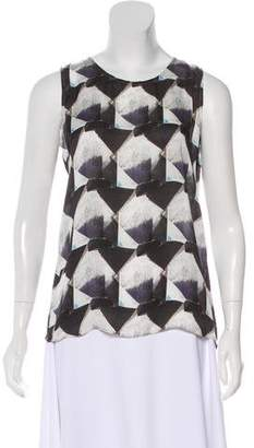 Theyskens' Theory Printed Silk Blouse