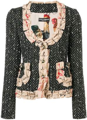 Dolce & Gabbana bow detailed blazer