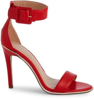 BCBGeneration Janet Leather Ankle-Strap Heeled Sandals
