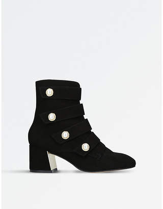 Carvela Spandau military-inspired suede ankle boots