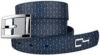 N. C4 Belts C4 Equestrian Belt: Bits Pieces Strap / Silver Chrome Buckle
