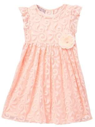 Pippa Pastourelle by and Julie Peach Lace Dress (Toddler & Little Girls)