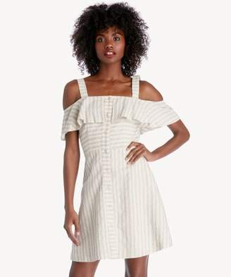 Sole Society Button Down Cold Shoulder Dress