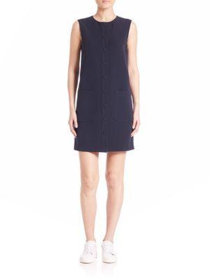 Helmut Lang Sleeveless Shift Dress $495 thestylecure.com