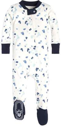 Burt's Bees Scattered Glaciers Organic Baby Zip Up Footed Pajamas