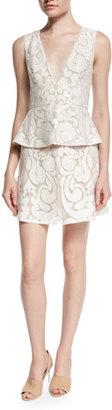 BCBGMAXAZRIA Sleeveless Peplum Cocktail Dress $498 thestylecure.com
