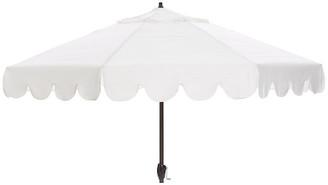 One Kings Lane Phoebe Scallop-Edge Patio Umbrella - White