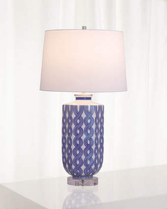 Port 68 Evelyn Blue Lamp