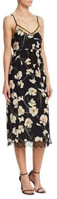 No.21 No. 21 No. 21 Women's Silk Floral Midi Slip Dress - Stampa Fondo Nero - Size 40 (6)