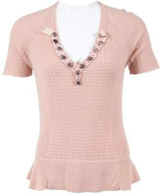 Carolina Herrera Pink Cashmere Knitwear