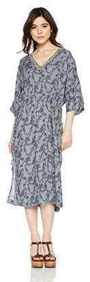 goa (ゴア) - [goa] INDIA Dabka刺繍ShadowFlowerプリントOP 21816156 レディース ブルー 日本 FREE (FREE サイズ)