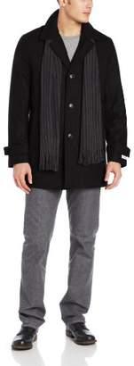 Calvin Klein Men's Car Coat with Scarf