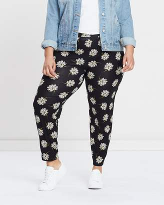 Evans Jersey Print Tapered Trousers
