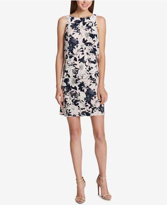 Tommy Hilfiger Tiered Floral-Print Sheath Dress