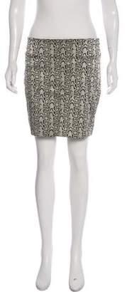 Nicole Miller Printed Mini Skirt