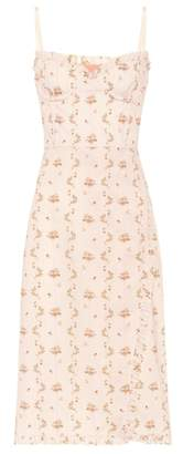 Brock Collection Floral cotton bustier dress