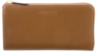 Gucci Gucci Leather Zip Wallet