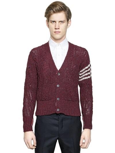 Thom Browne Donegal Wool Cardigan