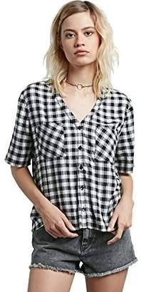 Volcom Junior's Pick It Up Yarn Dye Flannel Shirt