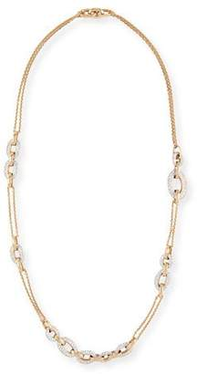 Pomellato Tango 18k Rose Gold Diamond Chain Link Necklace