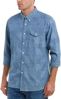 Jachs Patchwork Classic Fit Woven Shirt