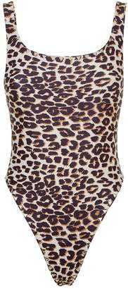 Same Swim Goddess Leopard Print Studded Swimsuit