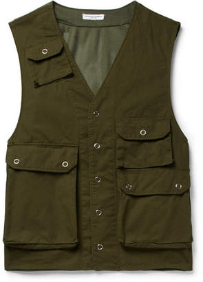 Engineered Garments C-1 Slim-Fit Cotton And Mesh Gilet