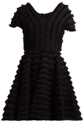 Emilio De La Morena Zelda Ruffled Cocktail Dress - Womens - Black