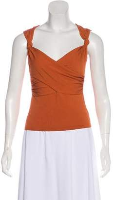 Valentino Sleeveless Gathered Top