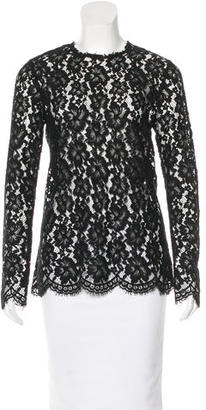 Sandro Lace Long Sleeve Top $85 thestylecure.com