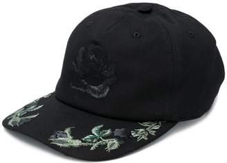 Alexander McQueen floral embroidered baseball cap