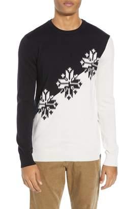 Scotch & Soda Intarsia Colorblock Wool Sweater