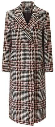 Baukjen Milan Boyfriend Coat In Blush & Black Check