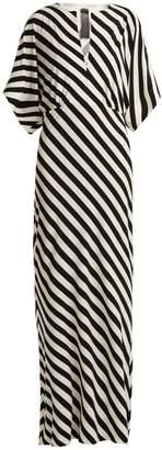 Norma Kamali Striped jersey dress