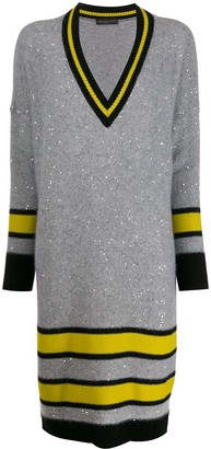 Fabiana Filippi sequin-embellished knitted dress
