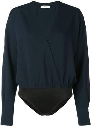 Tibi Savanna wrap bodysuit